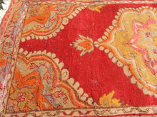 3x6 ft. Red and Orange Wool Turkish Area Rug - bosphorusrugs  - 5