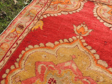 3x6 ft. Red and Orange Wool Turkish Area Rug - bosphorusrugs  - 6