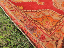 3x6 ft. Red and Orange Wool Turkish Area Rug - bosphorusrugs  - 7