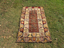 Circa 1980's Brown area rug - bosphorusrugs  - 2