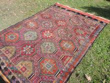 Colorful Embroideried jijim Kilim Sele ndi - bosphorusrugs  - 4