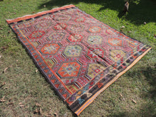 Colorful Embroideried jijim Kilim Sele ndi - bosphorusrugs  - 5