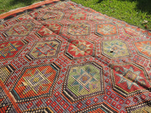 Colorful Embroideried jijim Kilim Sele ndi - bosphorusrugs  - 6