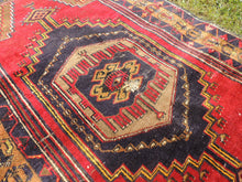 Navy and Red color Vintage Turkish Area rug - bosphorusrugs  - 6