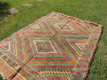 6x8 ft. Wool Turkish Kilim rug with Lovely Colors - bosphorusrugs  - 4