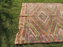 6x8 ft. Wool Turkish Kilim rug with Lovely Colors - bosphorusrugs  - 6