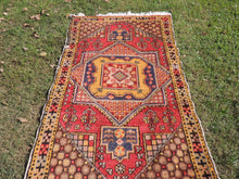 "4x6 ft. Vintage Colorful Turkish area rug ""Star"" - bosphorusrugs  - 4"