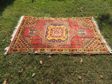 "4x6 ft. Vintage Colorful Turkish area rug ""Star"" - bosphorusrugs  - 5"