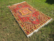 "4x6 ft. Vintage Colorful Turkish area rug ""Star"" - bosphorusrugs  - 7"