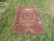 1950's Brown Worn Turkish Carpet - bosphorusrugs  - 2