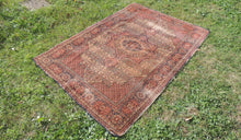 1950's Brown Worn Turkish Carpet - bosphorusrugs  - 1