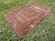 1950's Brown Worn Turkish Carpet - bosphorusrugs  - 3