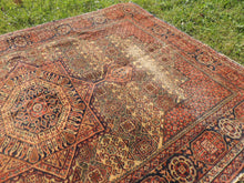 1950's Brown Worn Turkish Carpet - bosphorusrugs  - 4