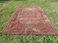 1950's Brown Worn Turkish Carpet - bosphorusrugs  - 5