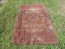 1950's Brown Worn Turkish Carpet - bosphorusrugs  - 6