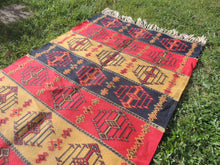 Colorful Bohemian Turkish Kilim Rug - bosphorusrugs  - 3