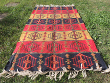 Colorful Bohemian Turkish Kilim Rug