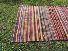 Striped Bohemian Turkish Kilim Rug - bosphorusrugs  - 3
