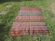 Bohemian Striped Turkish Kilim Rug - bosphorusrugs  - 2