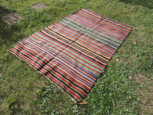 Bohemian Striped Turkish Kilim Rug - bosphorusrugs  - 5
