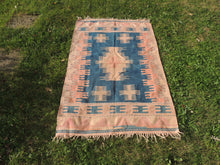 Turkish Tribal Kilim Rug Home Decor - bosphorusrugs  - 2