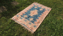 Turkish Tribal Kilim Rug Home Decor - bosphorusrugs  - 1