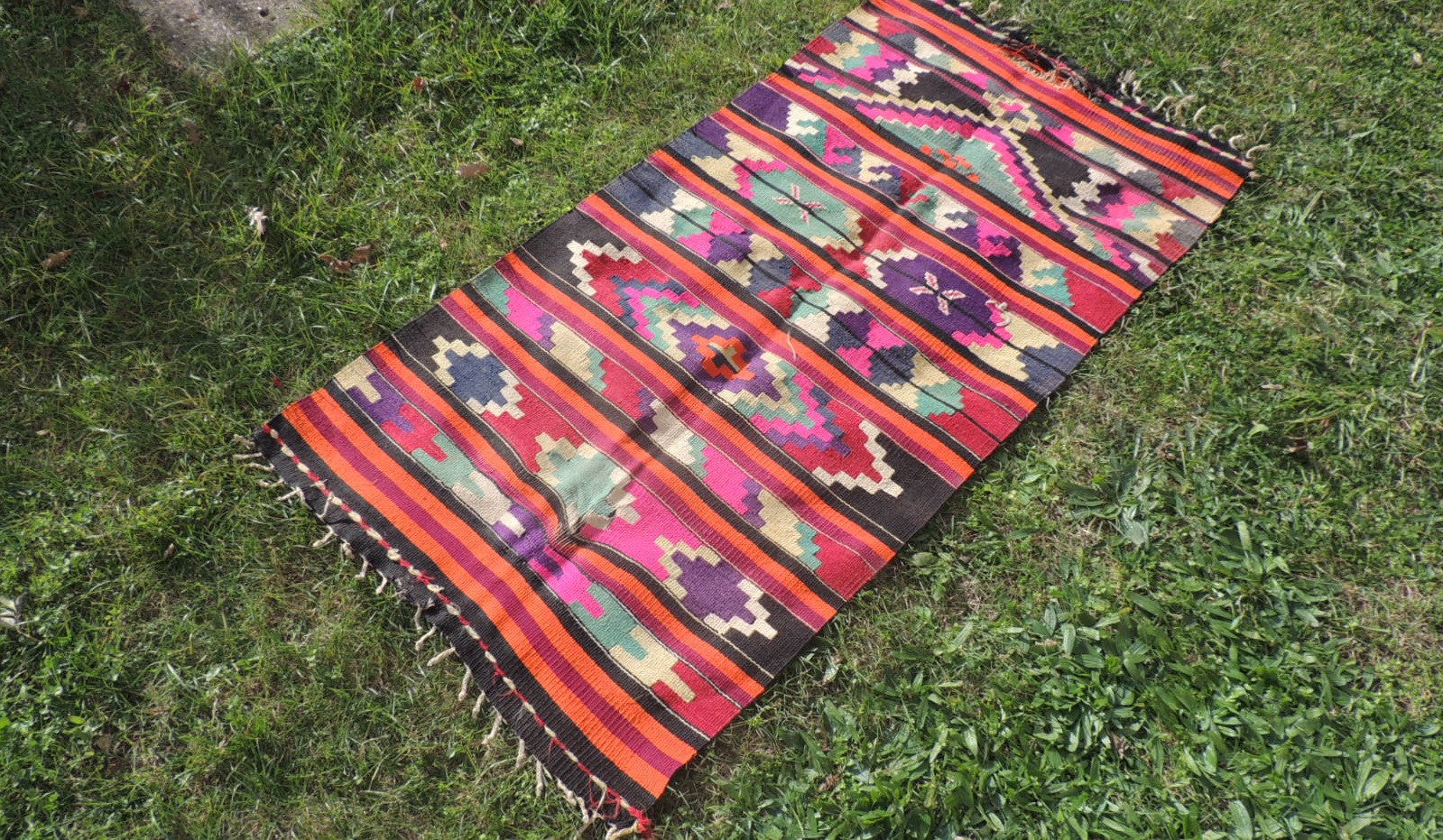 Colorful Turkish Kilim - bosphorusrugs  - 1