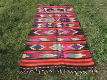 Colorful Turkish Kilim - bosphorusrugs  - 4