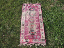 "Boho Turkish Kilim ""Lavender"" - bosphorusrugs  - 3"