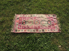 "Boho Turkish Kilim ""Lavender"" - bosphorusrugs  - 4"