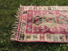 "Boho Turkish Kilim ""Lavender"" - bosphorusrugs  - 5"