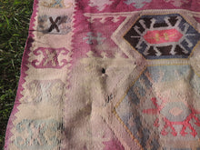 "Boho Turkish Kilim ""Lavender"" - bosphorusrugs  - 6"