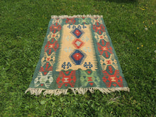 Green Turkish kilim rug - bosphorusrugs  - 3