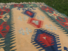 Green Turkish kilim rug - bosphorusrugs  - 6
