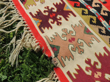 Red Balkan kilim rug - bosphorusrugs  - 12