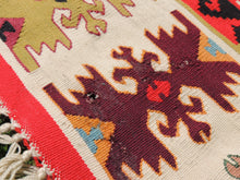 Red Balkan kilim rug - bosphorusrugs  - 11