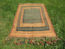 Green tribal kilim from Central Anatolia - bosphorusrugs  - 2