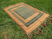 Green tribal kilim from Central Anatolia - bosphorusrugs  - 4