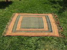 Green tribal kilim from Central Anatolia - bosphorusrugs  - 5