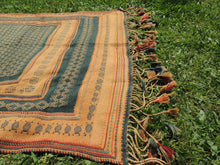 Green tribal kilim from Central Anatolia - bosphorusrugs  - 8