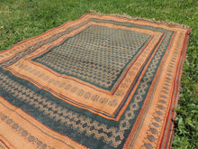Green tribal kilim from Central Anatolia - bosphorusrugs  - 6