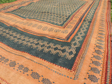 Green tribal kilim from Central Anatolia - bosphorusrugs  - 9