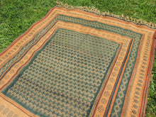 Green tribal kilim from Central Anatolia - bosphorusrugs  - 7