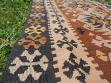"Tribal Turkish ""Sivas"" kilim rug - bosphorusrugs  - 6"