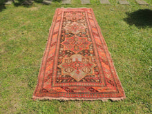 Semi Antique Caucasian Runner Rug with Star Design - bosphorusrugs  - 2