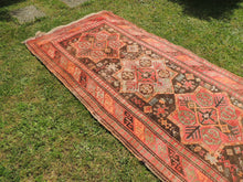 Semi Antique Caucasian Runner Rug with Star Design - bosphorusrugs  - 3
