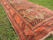 Semi Antique Caucasian Runner Rug with Star Design - bosphorusrugs  - 4