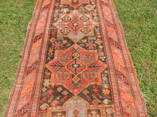 Semi Antique Caucasian Runner Rug with Star Design - bosphorusrugs  - 5