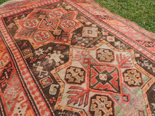 Semi Antique Caucasian Runner Rug with Star Design - bosphorusrugs  - 6