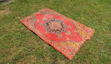 Semi Antique Worn Turkish Area rug - bosphorusrugs  - 1